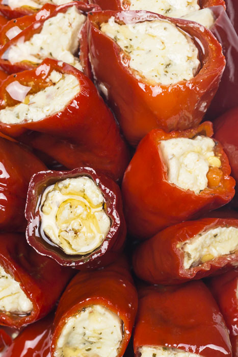 Red Chilli Peppers stuffed with cheese